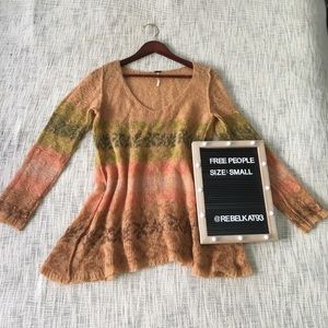 Free People Fuzzy Sweater Size: Small